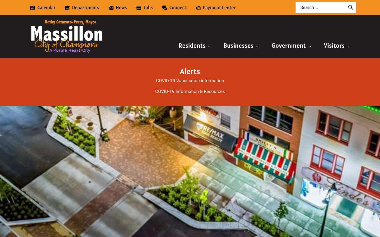 home page from massillonohio.gov